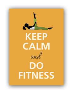 Keep calm and do fitness by KCalmGallery on Etsy