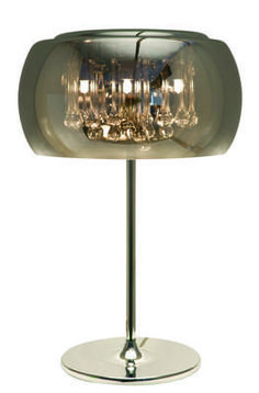 Alain Table Lamp in Chrome with Crystals by Nuevo - HGHO123