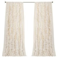 Ruffled ivory curtain panel.  Product: Curtain panelConstruction Material: PolyesterColor: Ivory...