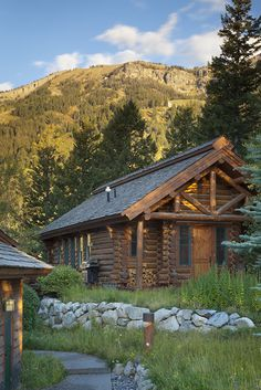 Cabin with loft and large porch lake house pinterest for Cabin rentals in jackson hole wy