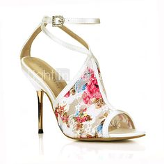 Women's Sandals Summer Comfort Tulle Wedding Party & Evening Dress Stiletto Heel Ivory 2017 - $50.99