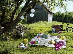 Picknickdecke im Grünen