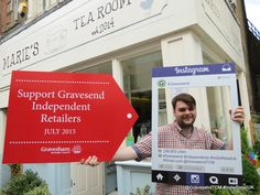 Marie's Tea Room Gravesend Shop Local, Image Shows, The Locals, Letter Board, Indie, Retail, Tea, Room, Instagram