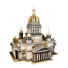 [ 37% Off ] 3d Wooden Puzzle Children's And Adult Model The Saint Isaac's Cath A Kids Toy Of The Famous Building Series A Best Gift For Kids