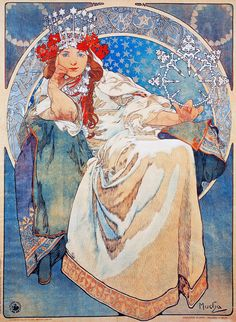 "vintagegal: "" Princess Hyacinth by Alphonse Mucha, 1911 """
