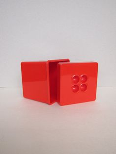 Dansk Plastic Canister in Red by ModernSquirrel on Etsy, $10.00