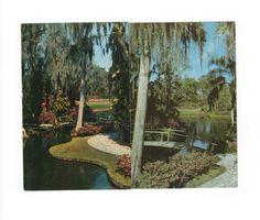Vintage Postcards: Florida Cypress Gardens, Two Postcards. $4.00, via Etsy.