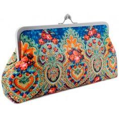 Gypsy Soul. Teal version clutch / shoulder bag