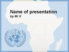 Africa and UN Blue Version Powerpoint Presentation Template