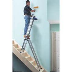 Model AFA15Z #Professional Three Way #Combi #Ladder w. #Work #Tray The strong work tray is useable in all positions Use as a #stepladder, #extension# ladder or a #stairwell #ladder The unique #sliding #mechanism enables easy conversion to each mode The wide splayed base and #heavy #duty #feet give #stability and #grip See more at: http://shop.hsil.co.uk/p-3968-professional-3-way-combi-ladder-with-work-tray.aspx#sthash.ZZ1l11wG.dpuf