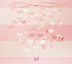 I love the Pink Paper Butterfly Mobile on potterybarnkids.com