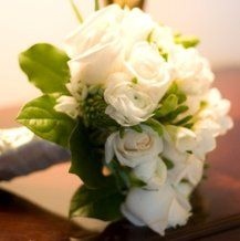 Homemade Ivory, White, & Green Bridal Bouquet
