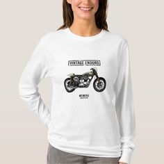 Vintage motorbike T-Shirt #architecture #food #drink hardtail mountain bike, mountain bike photography, mountain bike logo, dried orange slices, yule decorations, scandinavian christmas Mountain Bike Accessories, Bike Logo, Vintage Cafe Racer, Bike Photography, Biker Quotes, Biker Shirts, Motorcycle Tips, Scrambler Motorcycle, Graphic Sweatshirt