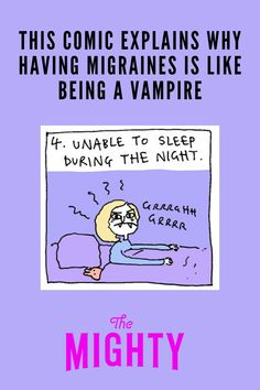 Lizz Lunney Creates Comic Explaining Why Having #Migraines Is Like Being a Vampire