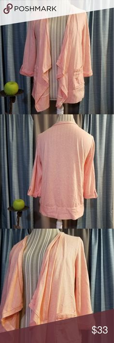 🌻🌺🌻ANN TAYLOR LOFT WATERFALL CARDIGAN SWEATER!! SIZE: MEDIUM   BRAND: ANN TAYLOR    CONDITION: NWOT   COLOR: LIGHT PINK  Buttoned 3/4 inch cuffed sleeves and with pockets  🌟POSH AMBASSADOR, BUY WITH CONFIDENCE!   🌟CHECK OUT MY OTHER ITEMS TO BUNDLE AND SAVE ON SHIPPING!   🌟OFFERS WELCOME!   🌟FAST SHIPPING! Ann Taylor Tops