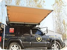 Vehicle awning for different sizes and matching with annex, or mosquito room as well