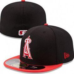 4bbc8915378 Los Angeles Angels of Anaheim New Era MLB Diamond Era Pop 59Fifty Fitted Hat  (Black