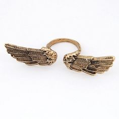 Vintage Style Angel Wing Ring