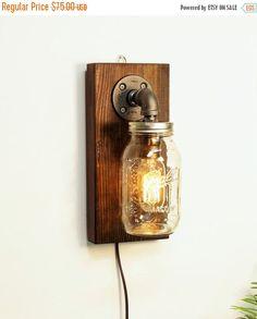 30% OFF SALE Industrial sconce light lamp-Mason by UrbanEdison
