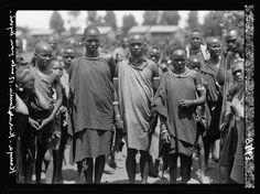 Kenya Colony. Karatina. A group of native youths