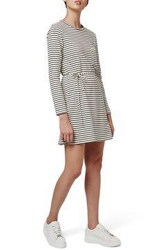 Topshop Belted Stripe Dress available at #Nordstrom