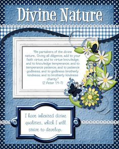 Mid-Week Activities centered around...  Divine Nature