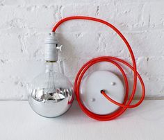 lamp with a red cord