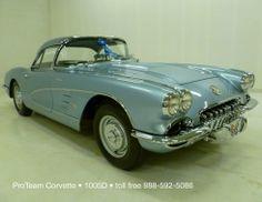 1958 Silver Blue Corvette - 1,249 units