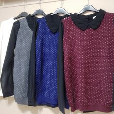 Pull 22,50€, col Claudine, manches en voile.  Made in China