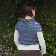 This is not a full pattern, but just basic instructions. This scarf sweater is so simple - it's just a long rectangle like a scarf, wrapped around the body and seamed in 2 places.
