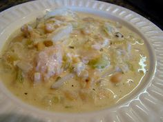 Creamy White Chicken Chili This is excellent!  I used more cumin 2T.in chili/  Sour cream. chives, cheddar or Mexican white cheese for topping plus flour tortillas are great to accompany this wonderful soup!  This is AWESOME!!!  Hubby rates it a 9!!! Didn't use whipping cream, substituted fat fee evaporated milk, we used reduced fat sour cream. We did add the Mexican cheese, yummy!!!