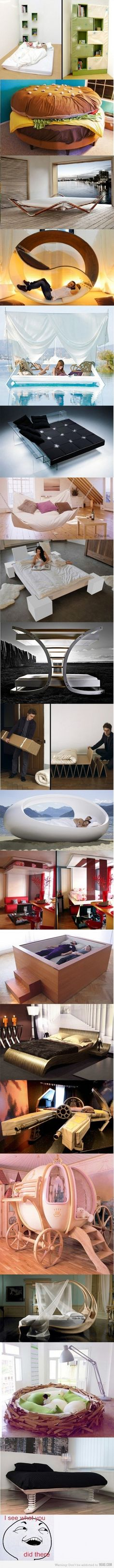creative beds! : ) SO COOL!