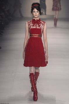 Samuel Cirnansck F/W '14 #red #fashion  This is SO cute! I even love the boots!