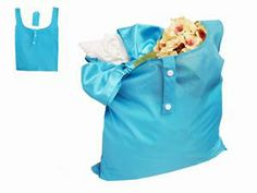 Reusable Shopping Bag Wedding Favor Turquoise