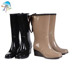c19712a020f Winter fashion sweet women rain boots   free shipping in the tube big yards  ladies slip waterproof rubber boots to keep warm
