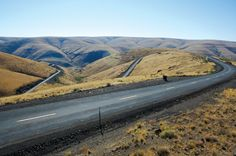 These turns east of Condon, Oregon, are enough to make a motorcyclist salivate as the road leads to the canyon floor. An article about motorcycle riding in this area was published in the April 2008 issue of Rider magazine.