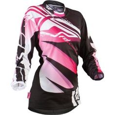 Fly Racing Kinetic Inversion Women's MotoX/Off-Road/Dirt Bike Motorcycle Jersey - Black/Pink / Medium