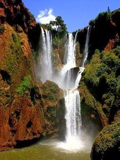 Amazing Waterfalls Around The World -1 -Ouzoud Waterfalls, Morocco