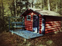 http://cabinporn.com/post/63643540326/painted-log-cabin-in-willimantic-maine