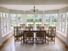 The brief: Seven bespoke roman blinds. Fabric to work beautifully with the glorious country garden. Would like a pattern but not something that takes over the room. We chose a contemporary floral print by luxury fabric designers ROMO fabrics.