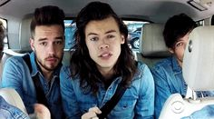 {GIF} Harry - Carpool Karaoke with James Corden