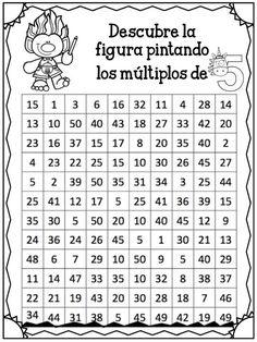 Compañeros y amigos docentes que nos visitan, en esta ocasión agradecemos a Paola Bevilacqua por diseñar y compartir con todos Therapy Activities, Math Activities, Math Exercises, I Love Math, English For Beginners, Primary Maths, Math Help, English Activities, School Items