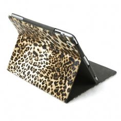 Leopard Skin Pattern Faux Leather Coated Back Shell Cover Case for iPad 2/iPad 3 - Brown $18.99