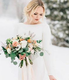 modest wedding dress with long sleeves from alta moda bridal (modest bridal gowns) photo by @beccaolsonphoto