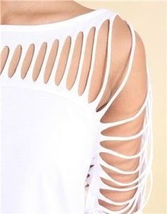 diy slash sleeve top.. This would be cute over a swimsuit