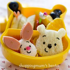 Bento Box Lunches For Kids...ok, not a cupcake, but you could put one in with lunch.