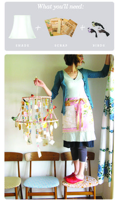 DIY : The Lamp Shade Chandelier