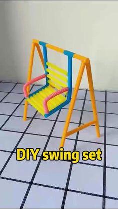Diy Crafts Hacks, Diy Crafts For Gifts, Diy Home Crafts, Fun Crafts, Diy Projects, Popsicle Crafts, Doll Crafts, Barbie Dolls Diy, Diy Doll