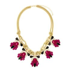 """Fuchsia Rose Florentine Fuchsia Rose Florentine Fuchsia Rose Florentine Fuchsia Rose Florentine FUCHSIA ROSE FLORENTINE  $ 34.99  LOBSTER FINISHED SIZE: 16"""" + 3"""" EXTENSION MATERIAL: PLATED BASE METAL, CRYSTAL, ACRYLIC COLOR: GOLD. FUCHSIA MIXED"""