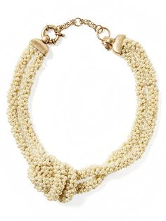 Mixed-Up Pearl Knot Necklace | Banana Republic
